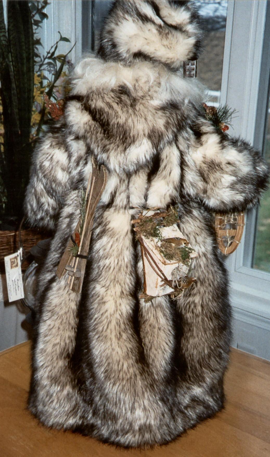 Long Faux Fur Coat With Hood